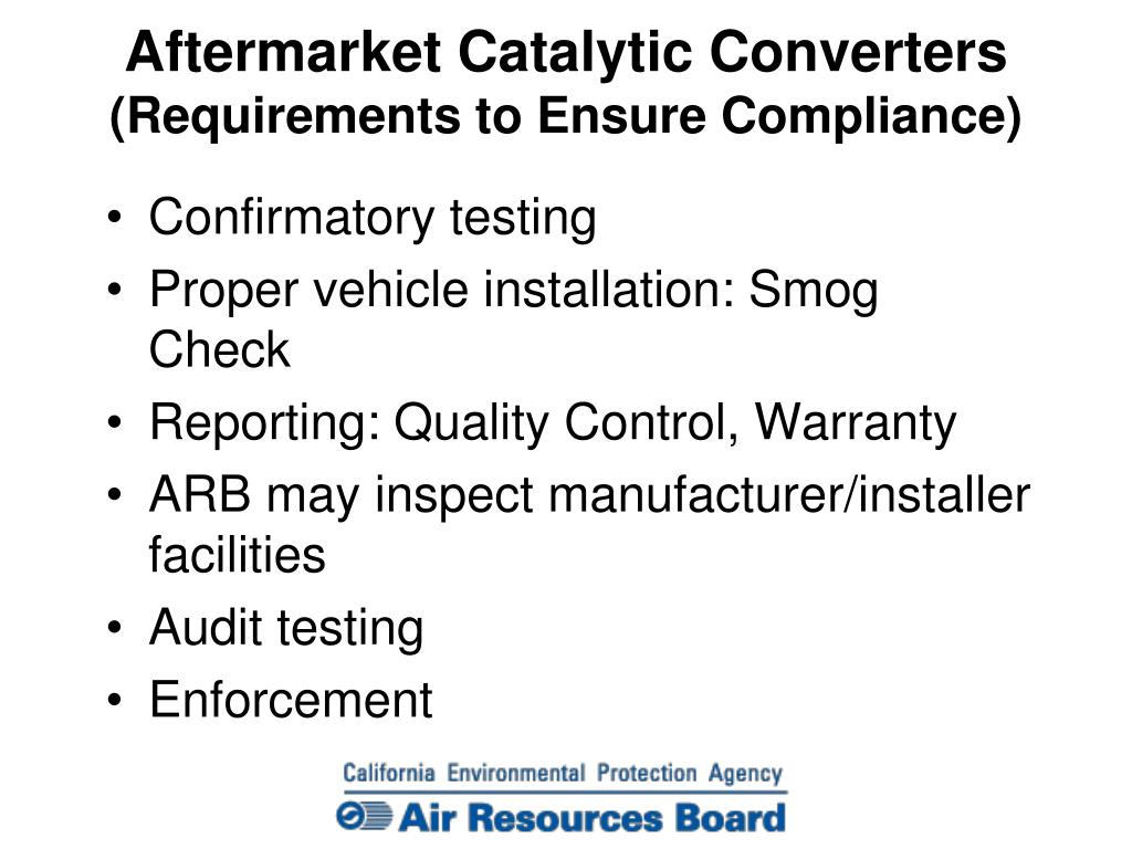 PPT - AFTERMARKET CATALYTIC CONVERTERS PowerPoint