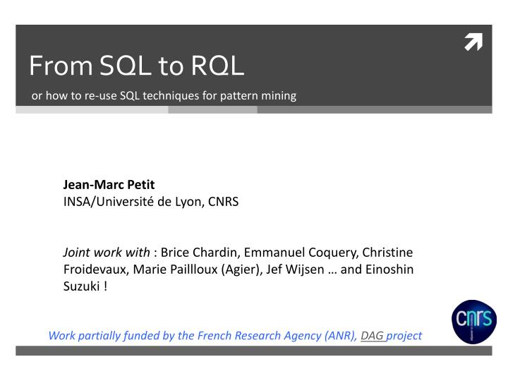 PPT - From SQL to RQL PowerPoint Presentation - ID:2252363