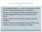 cons of imperialism in china