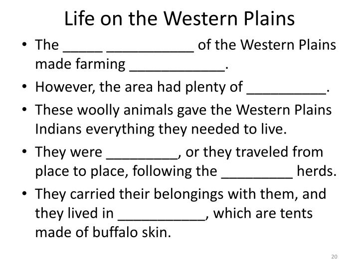 Life on the Western Plains