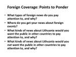 foreign coverage points to ponder