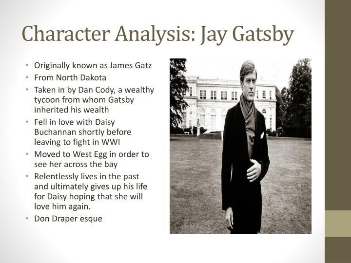 Character analysis jay gatsby