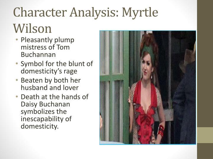 Character Analysis: Myrtle Wilson