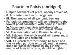 fourteen points abridged