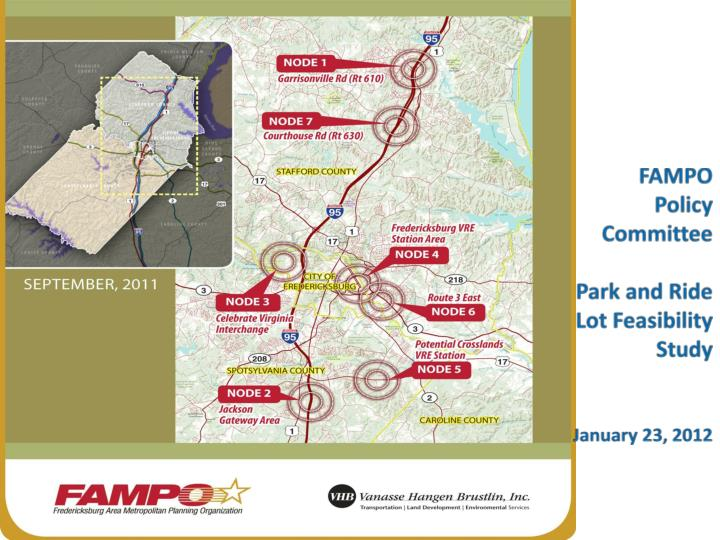 fampo policy committee park and ride lot feasibility study january 23 2012 n.