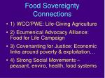 food sovereignty connections