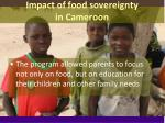 impact of food sovereignty in cameroon1