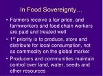 in food sovereignty