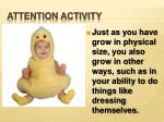 attention activity3