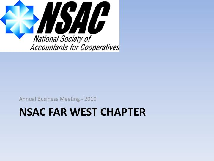 Nsac far west chapter
