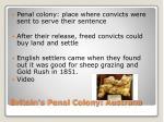 britain s penal colony australia