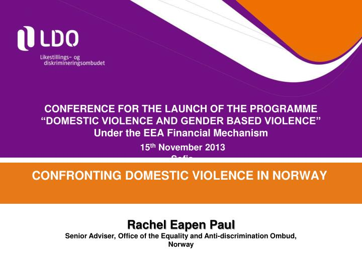 confronting domestic violence in norway n.