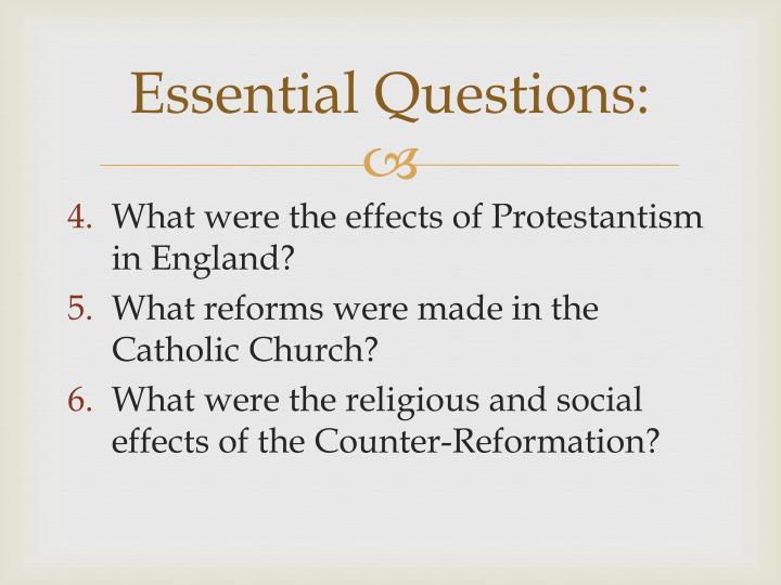 Ppt the protestant reformation powerpoint presentation id2252757 essential questions ccuart Images