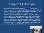 turning point of the war
