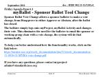 myballot sponsor ballot tool change