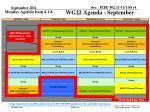 wg22 agenda september