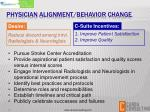 physician alignment behavior change