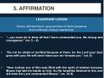 5 affirmation
