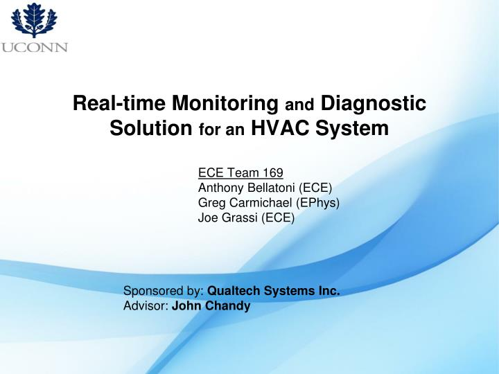 real time monitoring and diagnostic solution for an hvac system n.