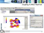 coupling to msc nastran2