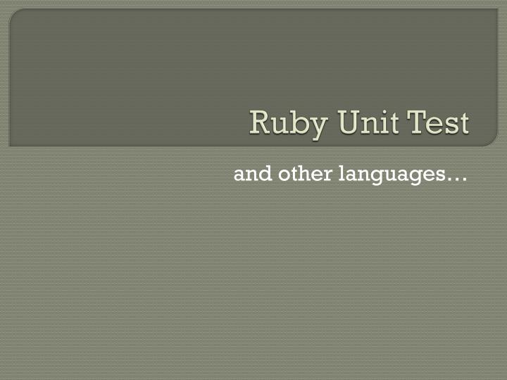ruby unit test n.