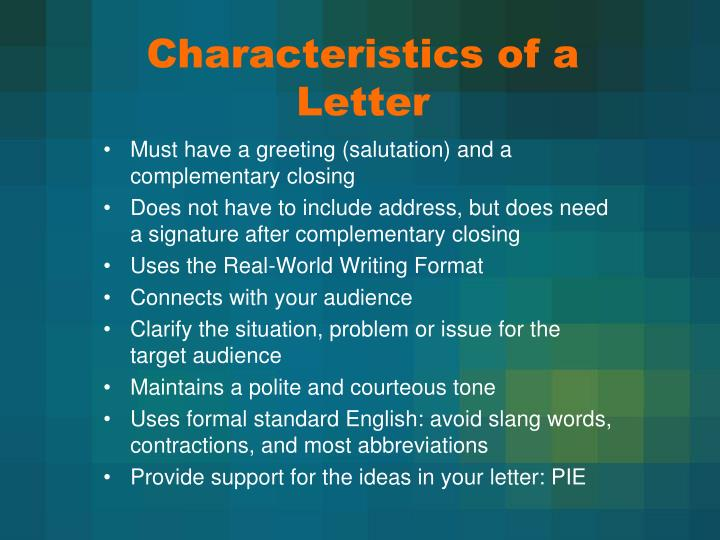 characteristics of a letter n.