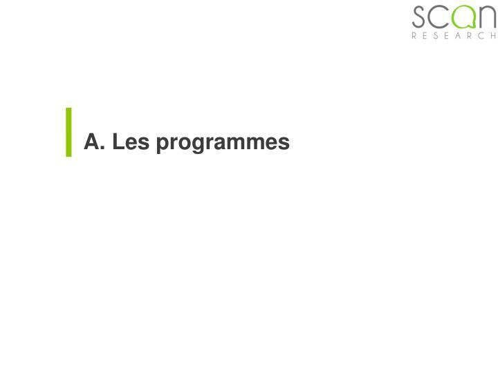 A. Les programmes