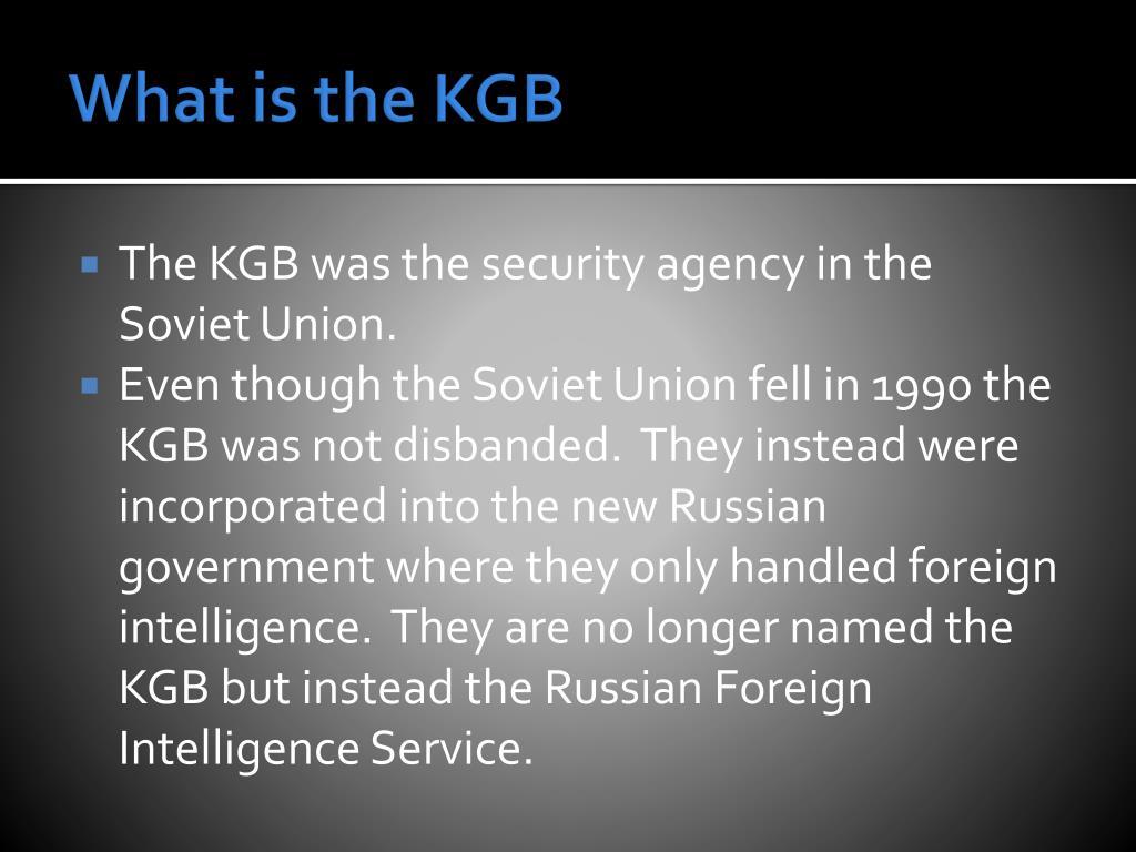 PPT - KGB vs  CIA PowerPoint Presentation - ID:2253097