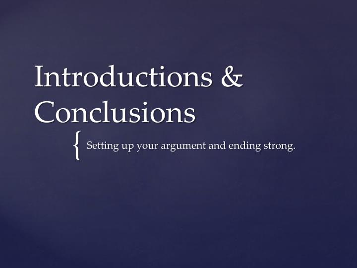 introductions conclusions n.