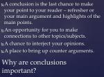 why are conclusions important