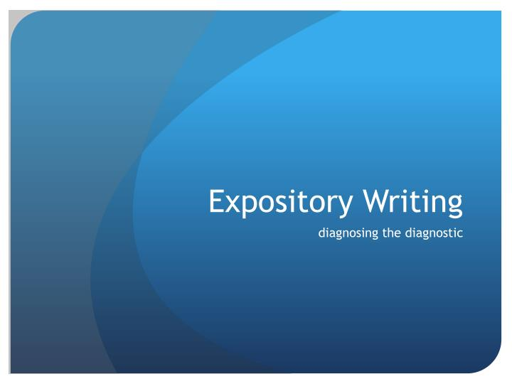 expository writing n.