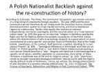 a polish nationalist backlash against the re construction of history