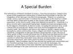 a special burden