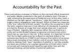 accountability for the past