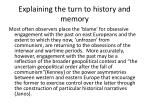 explaining the turn to history and memory