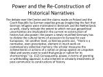 power and the re construction of historical narratives