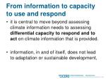 from information to capacity to use and respond