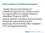 from projects to political processes