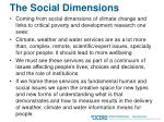 the social dimensions
