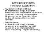 psykologiska perspektiv som ber r livs sk dning