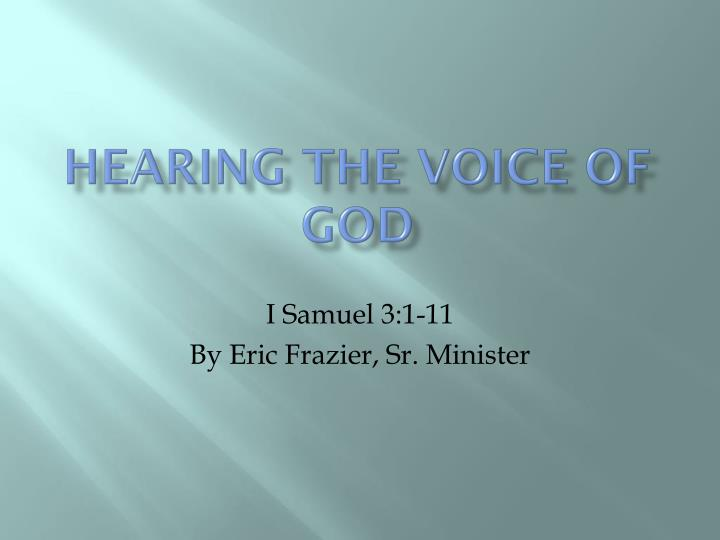 hearing the voice of god n.