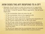 how does the aff respond to a cp