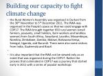 building our capacity to fight climate change