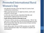 promoted international rural women s day