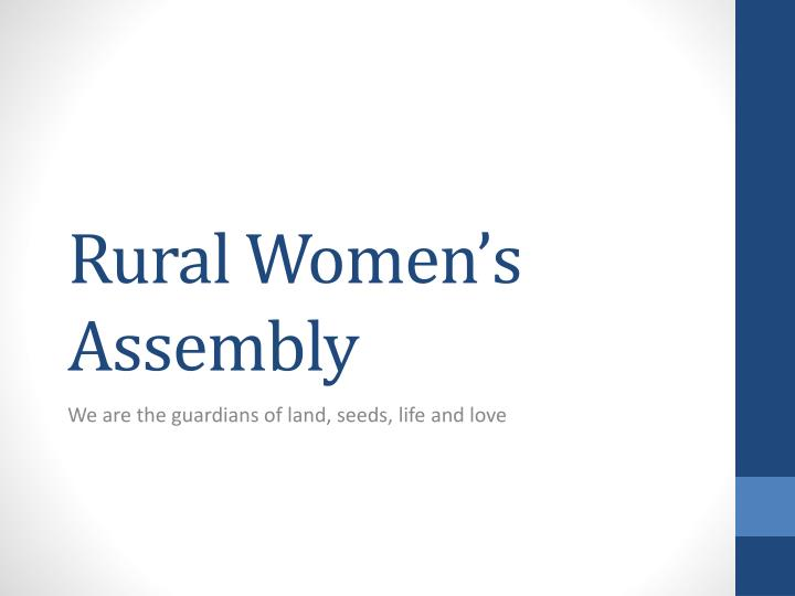 rural women s assembly n.