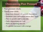 overcoming peer pressure
