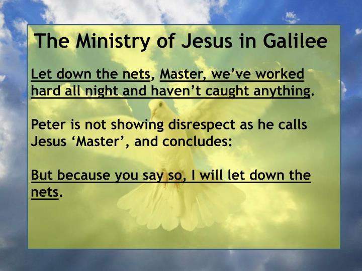 The Ministry of Jesus in Galilee