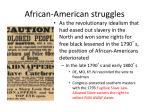 african american struggles