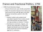 france and fractional politics 1793