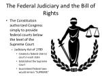 the federal judiciary and the bill of rights